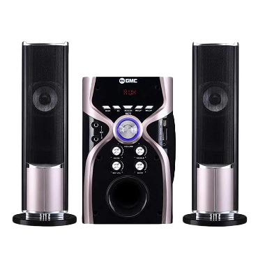 GMC 887G Bluetooth Multimedia Speaker Aktif - Silver Metalic