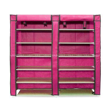 Godric Rak Sepatu Double 7 Layer 6  ...  x 30 x 110 cm - Hot Pink