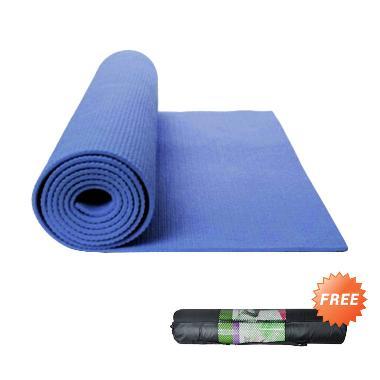 Godric Yoga Mat  Matras + Sarung - Navy Blue [61 cm x 173 cm x 6 mm]