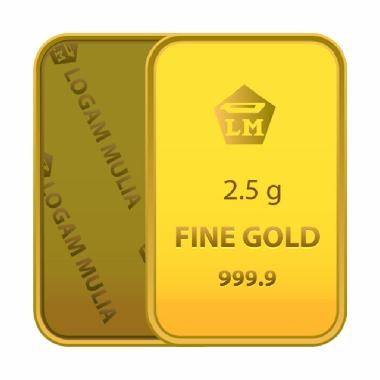 Gold Bar Emas 999.9 Logam Mulia [Sertifikat Antam - 2.5 g]