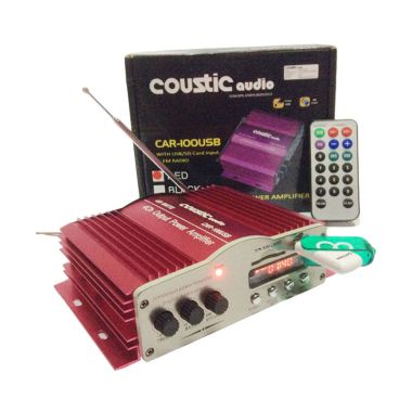 Coustic Audio Car-100USB Amplifier  ...