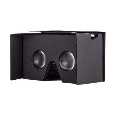 Google Cardboard VR Premium Black Kacamata 3D [Edition v2.0]