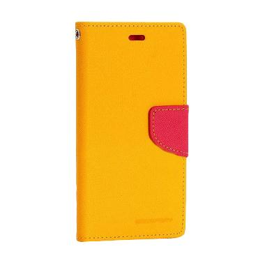 ... Goospery Mercury Original Fancy Diary Wallet Flip Casing for Xiaomi Mi 4i Yellow Magenta
