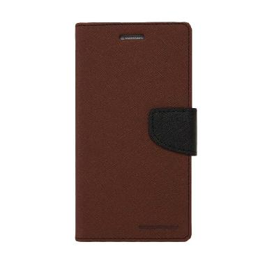 Mercury Goospery Fancy Diary Casing ... edmi Note 3 - Brown Black