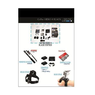 Kamera GoPro HERO4 Black Action Camera [Paket Diving]