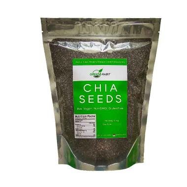 Green Habit Black Chia Seeds - Mexico Premium Quality [1 kg]