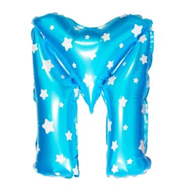 Grins and Giggles Foil Huruf M Blue Balon