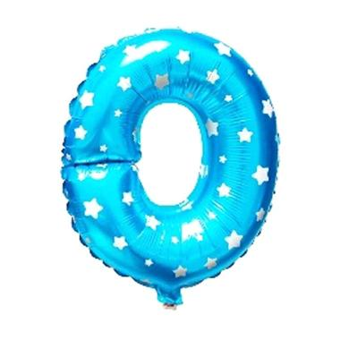 Grins and Giggles Foil Huruf O Blue Balon