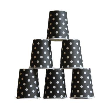 Grins and Giggles Paper Cup Gelas Kertas Dot Hitam