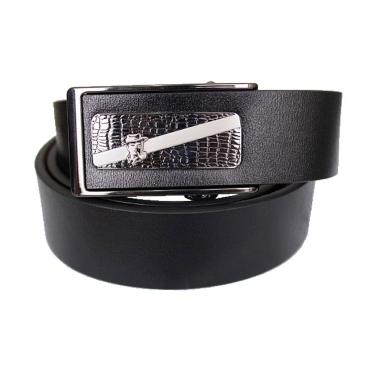 Gudang Fashion BELT 829 Semi Kulit Ikat Pinggang - Black