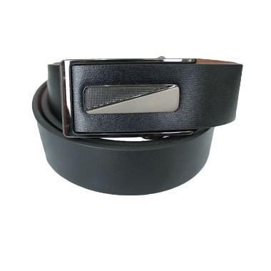 Gudang Fashion BELT 835 Mens Formal Semi Leather Ikat Pinggang - Black