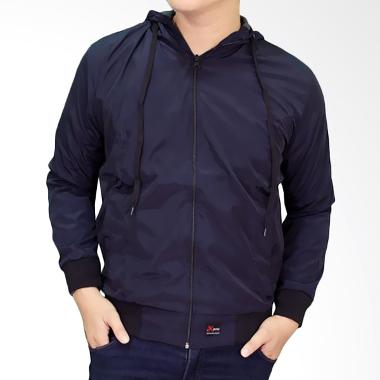 Gudang Fashion JAK 2108 Casual For Men Parasut Jaket Pria - Navy