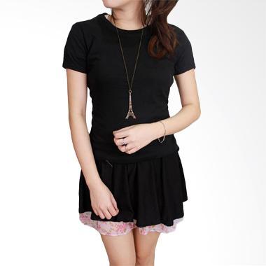 Gudang Fashion FW 03 Kaos Polos Len ...  Combed S20 Black T-shirt