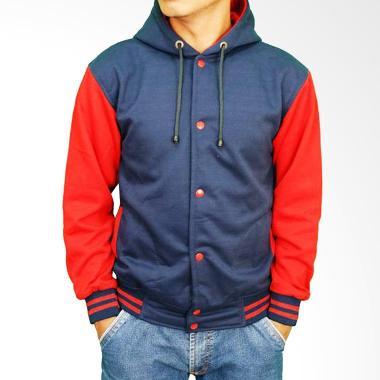Gudang Fashion Baseball Gaul Fleece JAK 2169 Jaket - Navy