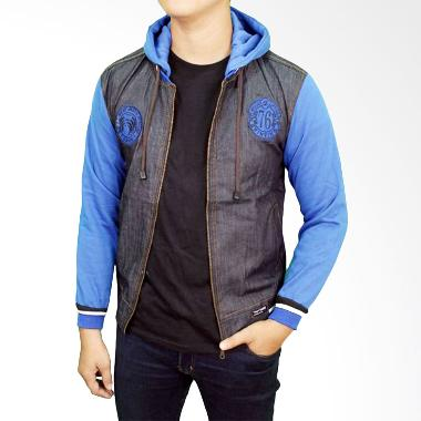 Gudang Fashion JAK 2143 Jeans Fleace Jaket - Grey