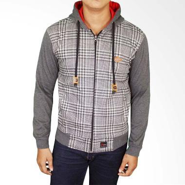 Gudang Fashion JAK 2185 Denim Jeans Jaket Pria - Grey