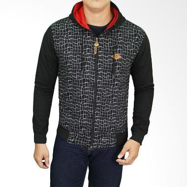 Gudang Fashion JAK 2190 Jeans Hoodie Jaket Pria - Black