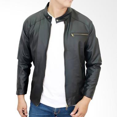 Gudang Fashion JAK 2087 Semi Kulit Jaket Pria - Black
