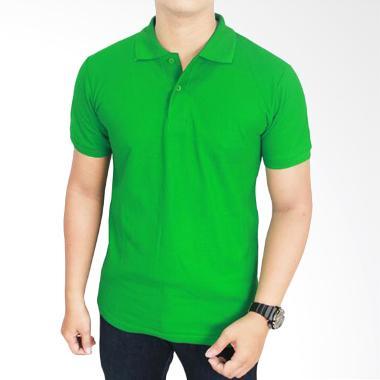 Gudang Fashion Kaos Polos Kerah POL 61 Hijau Fuji Atasan Pria