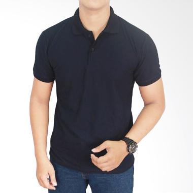 Gudang Fashion Kaos Polos Kerah POL 67 Ungu Muda Purple Atasan Pria