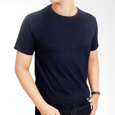 Gudang Fashion POL 18 Kaos Polos O-neck Pendek Cotton combed 20S Biru Navy T