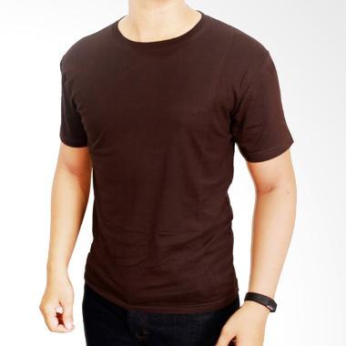 Gudang Fashion Kaos Polos POL 20 O- ... ed 20s Coklat Tua T-shirt