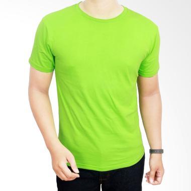 Gudang Fashion Kaos Polos POL 11 O- ... 20S Hijau Stabilo T-shirt