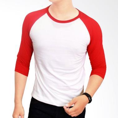 Gudang Fashion Kaos Polos POL 23 Co ... ih Kombinasi Merah Raglan