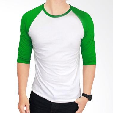 Gudang Fashion POL 28 Kaos Polos Co ... ih Kombinasi Hijau Raglan