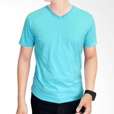 Gudang Fashion Kaos Polos POL 30 V- ... d 20S Turkis Muda T-shirt