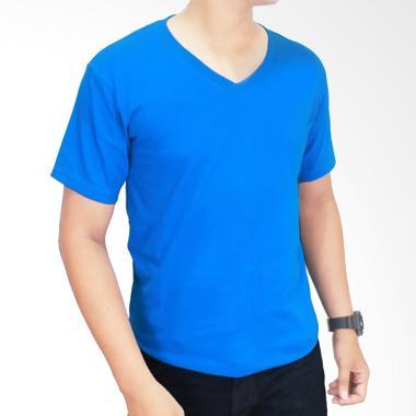 Gudang Fashion Kaos Polos POL 29 V- ... ed 20S Turkis Tua T-shirt