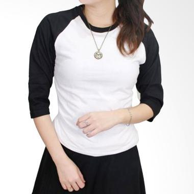 Gudang Fashion POLW 26 Kaos Polos Wanita - Black White