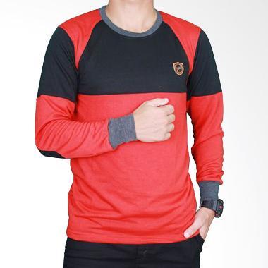 Gudang Fashion PAN 740 Baby Tery Kaos Lengan Panjang Pria - Red