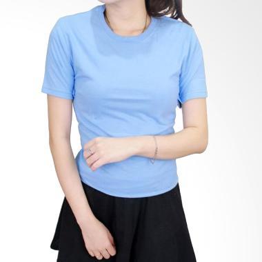 Gudang Fashion Lengan Pendek POLW 1 ... ed S20 Kaos Wanita - Blue
