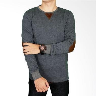 Gudang Fashion PAN 835 Modern Baby Tery Kaos Panjang Pria - Grey