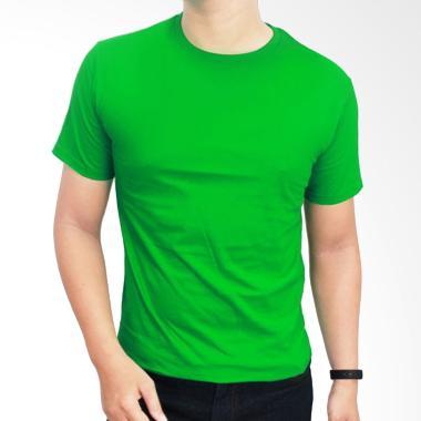 Gudang Fashion POL 22 Kaos Polos O- ... ed 20S Hijau Fuji T-shirt