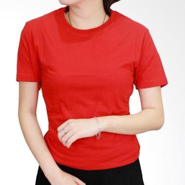 Gudang Fashion POLW 04 Kaos Polos C ... d S20 Atasan Wanita - Red