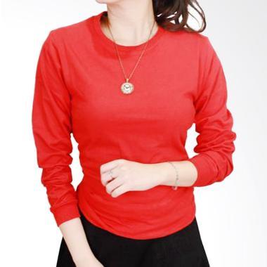 Gudang Fashion POLW 38 Kaos Polos Lengan Panjang Wanita - Red