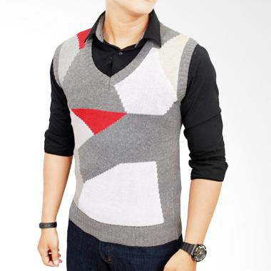 Jual Gudang Fashion Rom 361 Rajut Multicolor Rompi Pria