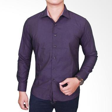 Gudang Fashion Slimfit Formal LNG 1627 Kemeja Pria - Purple