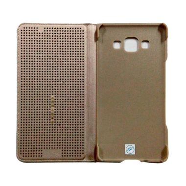 Smart Touch Brown Flip Cover Casing ...