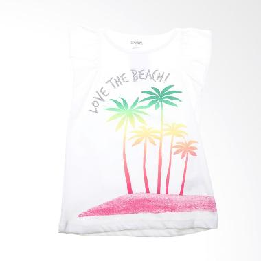 Gymboree BO 435 Tshirt Love The Beach White Atasan Anak Perempuan