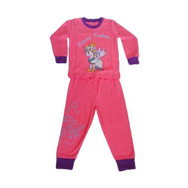 H&M piyama Little Pony Set Baju Tidur Anak - Hot Pink