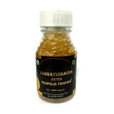 Habbatussauda Extra Propolis Trigona Suplemen [200 Kapsul]