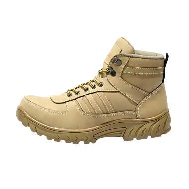 Handmade Grande Safety Sepatu Boot Pria - Cream