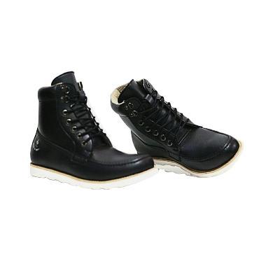 Handmade Bally Sepatu Boot pria - Black