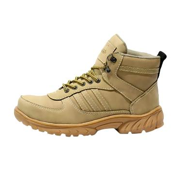 Handmade Grande Solgum Safety Shoes Sepatu Boots Pria - Cream