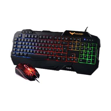 Havit HV-KB558CM LED Backlit Wired Hitam Keyboard Mouse Combo