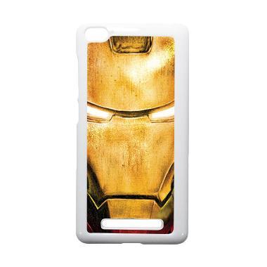 HEAVENCASE Ironman 02 Putih Hardcas ... aomi Mi4i and Xiaomi Mi4c