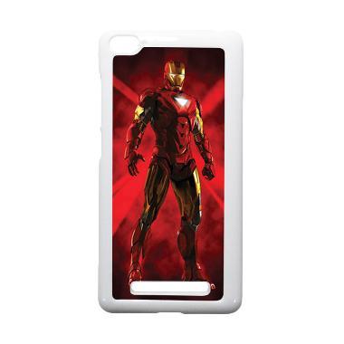 HEAVENCASE Ironman 08 Putih Hardcas ... aomi Mi4i and Xiaomi Mi4c
